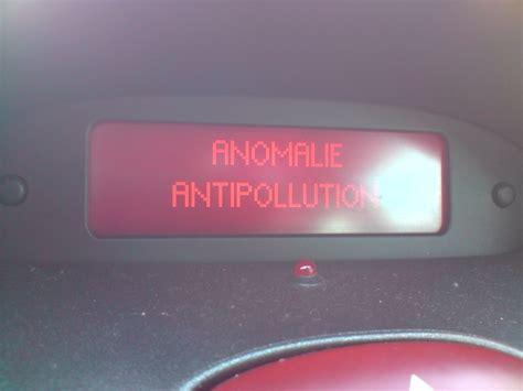antivol electronique citroen c5 peugeot 206 hdi 90 message anomalie anti pollution 206