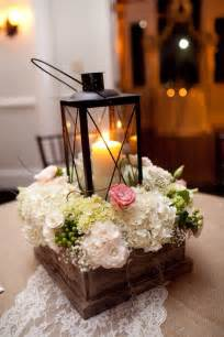 unique centerpiece with lantern wedding