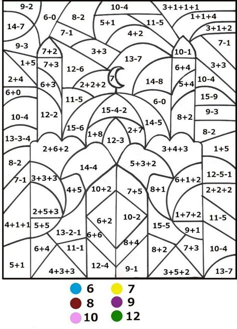 math coloring pages by number 343 color by number for