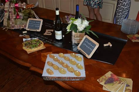 wine themed bridal shower food custom lettering for a wine themed couples shower