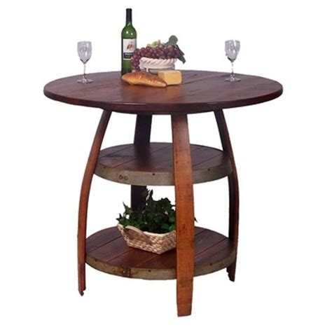up cycled wine barrel table diy projects pinterest