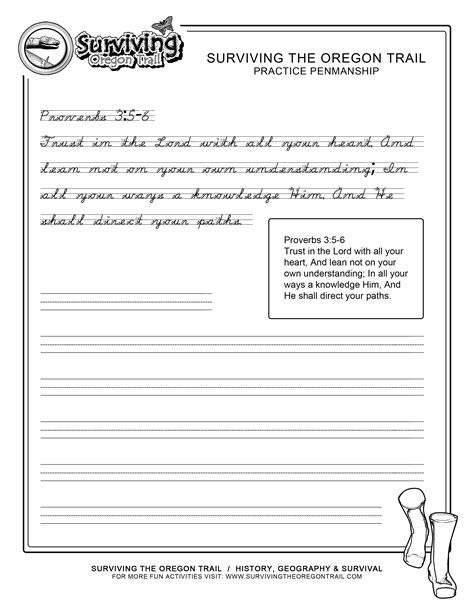 Bible Worksheets For by Advanced Free Practice Cursive Bible Verses Prov 3 5 6