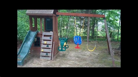 swing ground stakes securing swing set with toci ground anchor youtube