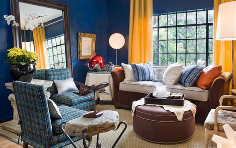 Yellow Walls Blue Curtains Decorating Blue Living Room With Yellow Curtains Home Decorating Trends Homedit