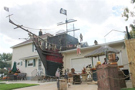 pirate ship halloween decor 25 halloween outdoor