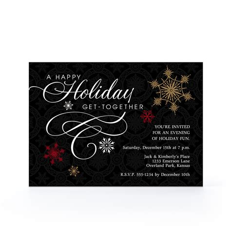 elegant christmas party invitations invitation librarry