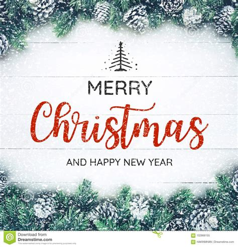 merry christmas and happy new year typography text with
