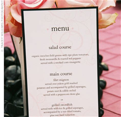 menu card for wedding reception menu cards do you need them for the wedding reception