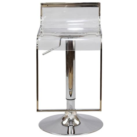 Clear Stools by Hydroglide Clear Barstool Modern Furniture Brickell Collection