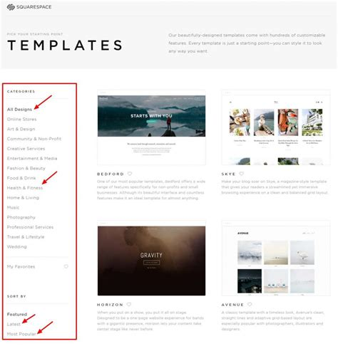 www squarespace templates squarespace vs which is the best website platform