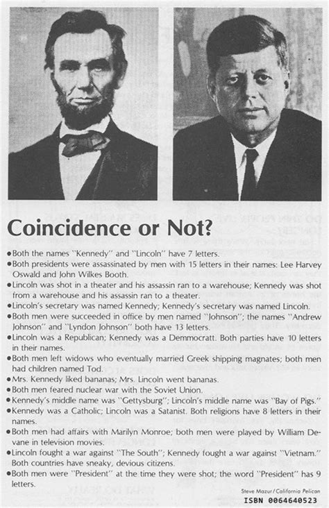 abe lincoln and jfk abraham lincoln f kennedy coincidences really