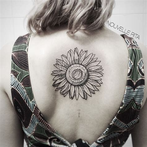 center back sunflower tattoo best tattoo ideas gallery