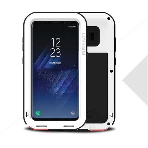 Samsung Galaxy S8 Skin Brushed Metal Bumper Armor Sarung mei powerful aluminum metal shockproof for