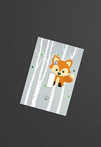 woodland nursery light fixture fox nursery woodland forest animals light switch plate