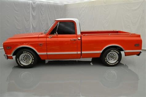 Wheels 68 Chevy Orange 1968 chevy c10 350ci v8 auto 3spd rwd orange whte interior