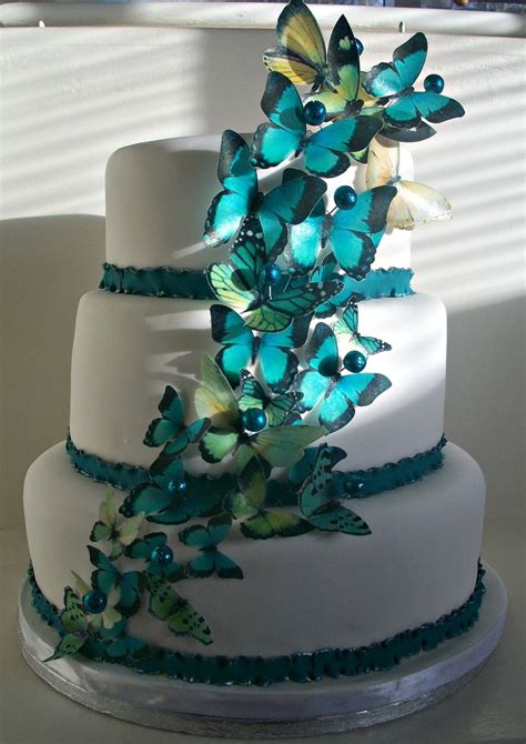 Explosion Box Blue Cupcake butterfly wedding cake cakecentral