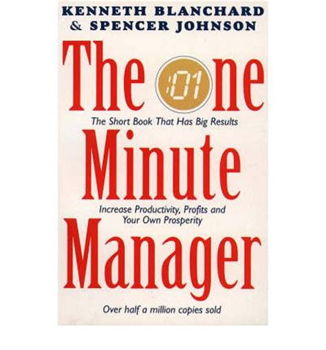 libro the one minute manager the one minute manager kenneth h blanchard spencer johnson 9780006367536