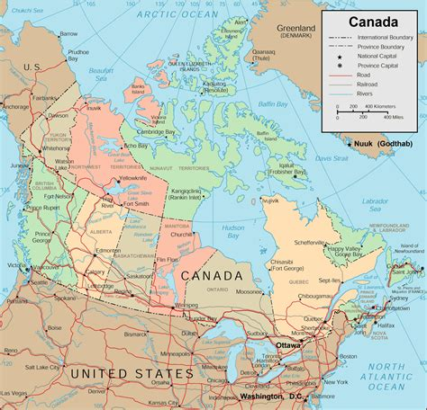 map of canada with major cities detailed political and administrative map of canada with