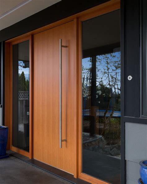 exterior modern doors a mid century modern home in vancouver gets an update