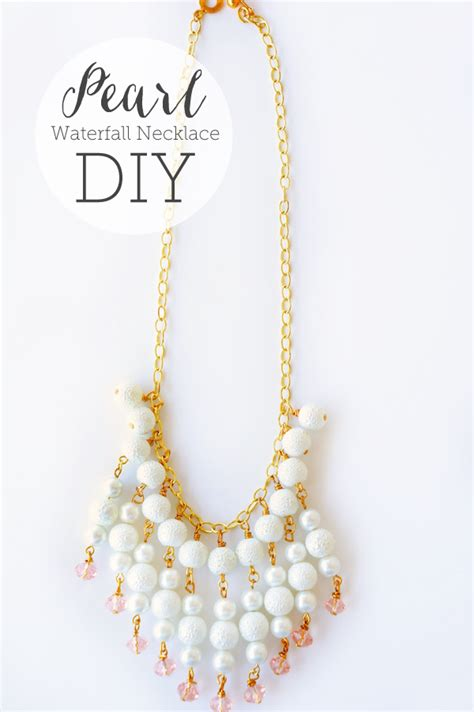 pearl diy diy pearl waterfall necklace via oheverythinghandmade