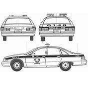 Chevrolet Caprice Police Car Blueprint  Download Free