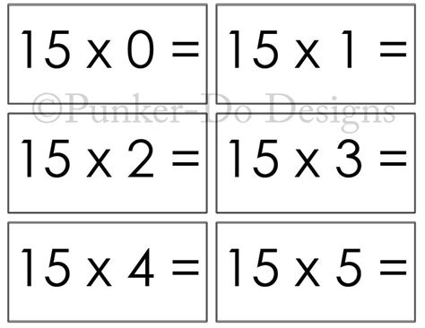 make your own multiplication flash cards multiplication math flash cards 1x 15x instant