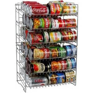 steel storage high soup can rack organize stockpile