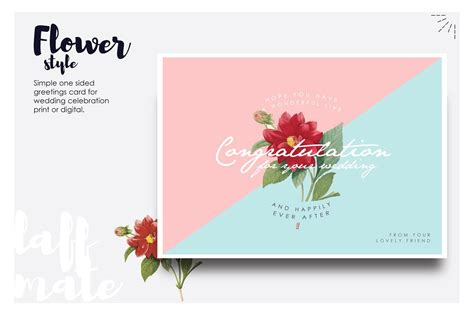 gereting card templates flaa modern greeting card for wedding card templates