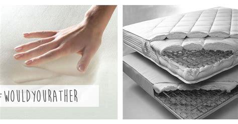 Mattress Vs Foam Mattress by Memory Foam Vs Innerspring Mattresses Hometalk