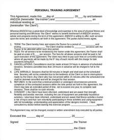 personal contract template contract template 6 exles in word pdf