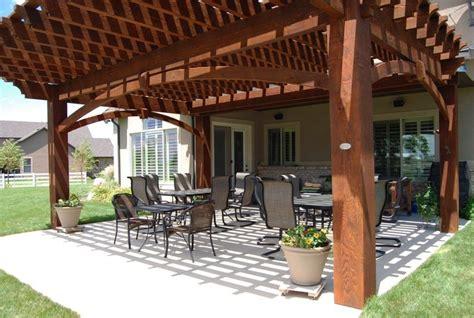 Western Cedar Pergola Kit Wood More Shade Plan Diy Solid Cedar Wood Cantilevered Pergola