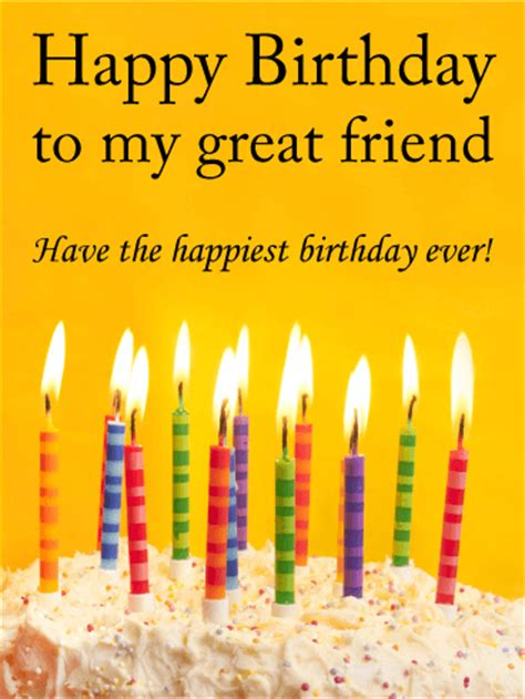 Birthday Card For My To My Great Friend Happy Birthday Card Birthday