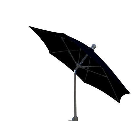 Black Patio Umbrellas Fiberbuilt Umbrellas 9 Ft Patio Umbrella In Black 9hcrcb T Bk The Home Depot