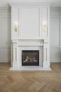 beautiful millwork on fireplace if we built up the area