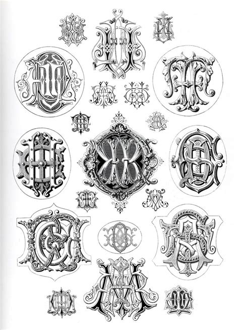 vintage monogram ad pictures to pin on pinterest tattooskid