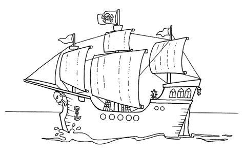 barco guerra dibujo barcos guerra colorear imagui