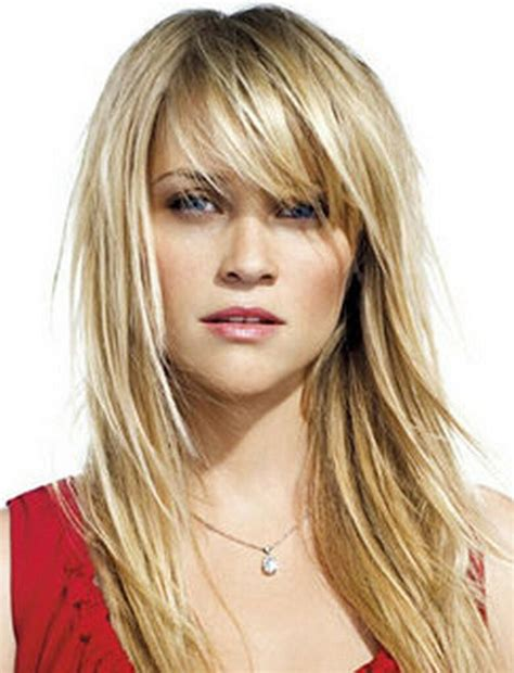haircuts with bangs and choppy layers side sweep bangs with the choppy layers hair pinterest
