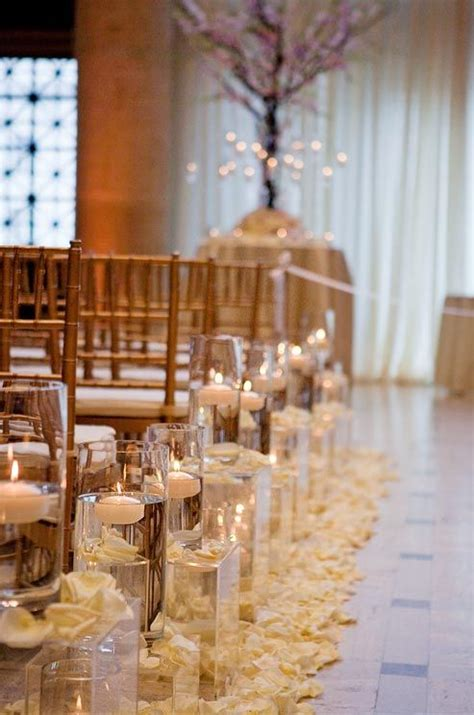 Wedding Aisle Candle Holders by Decorating Weddings With Candles Decozilla