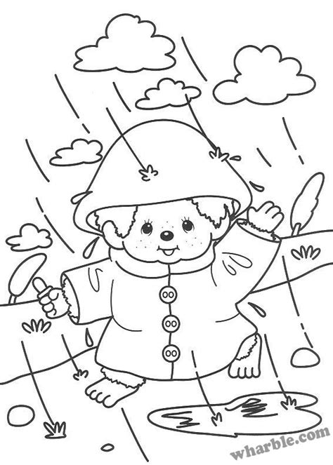 coloring page rainy day free rainy weather coloring pages