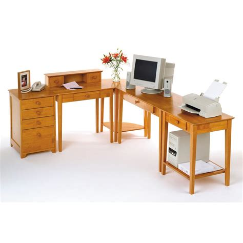 winsome 174 5 pc honey studio home office set 151447