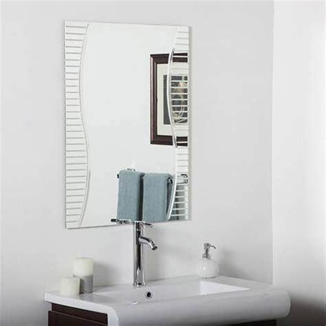 frameless rectangular bathroom mirror rectangular frameless mirror bellacor
