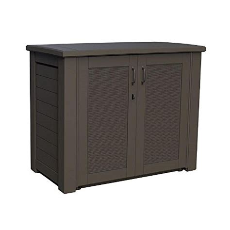 rubbermaid 123 gal outdoor resin patio storage cabinet