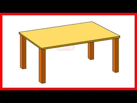 how to draw a table how to draw a table by easy drawing for
