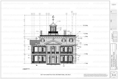 blueprint of a mansion something completely different the haunted mansion