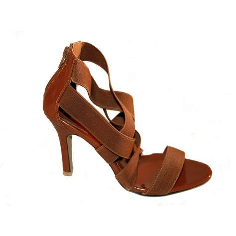 strappy sandals step womens step camel brown high heeled stilletto strappy