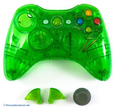 game gear led mod xbox 360 controller shell case mit led mod gr 252 n transp