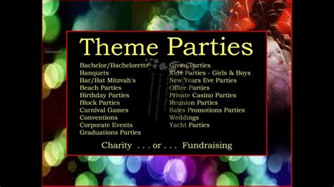 list of themes for parties danmar productions theme party event planners planning