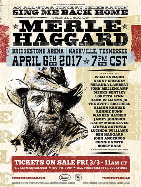 merle haggard concert tribute set for nashville the