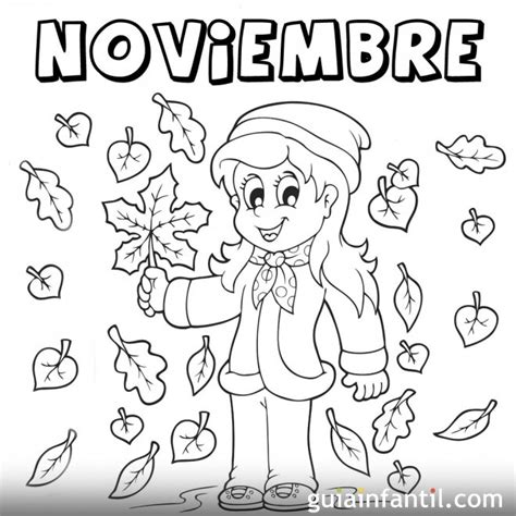 Imagenes Para Colorear Noviembre | mes de noviembre de 2016 para colorear