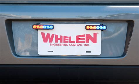 Whelen Visor Lights Whelen Ion Universal License Plate Bracket For 2 Ions